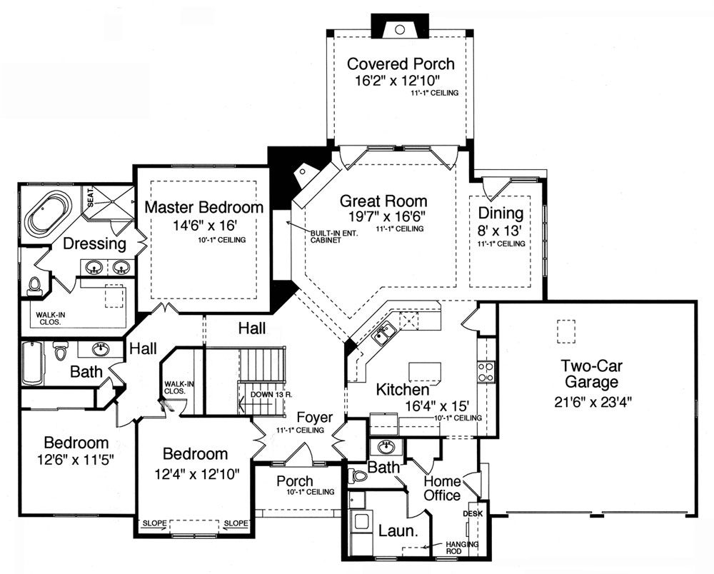 Plan Hhf 9078 1st Floor Plan Floor Plan Design House Plans One Story French Country House Plans