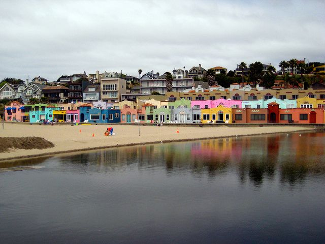 Painted Houses Of Capitola Beach Ca By Ostermayer Via Flickr