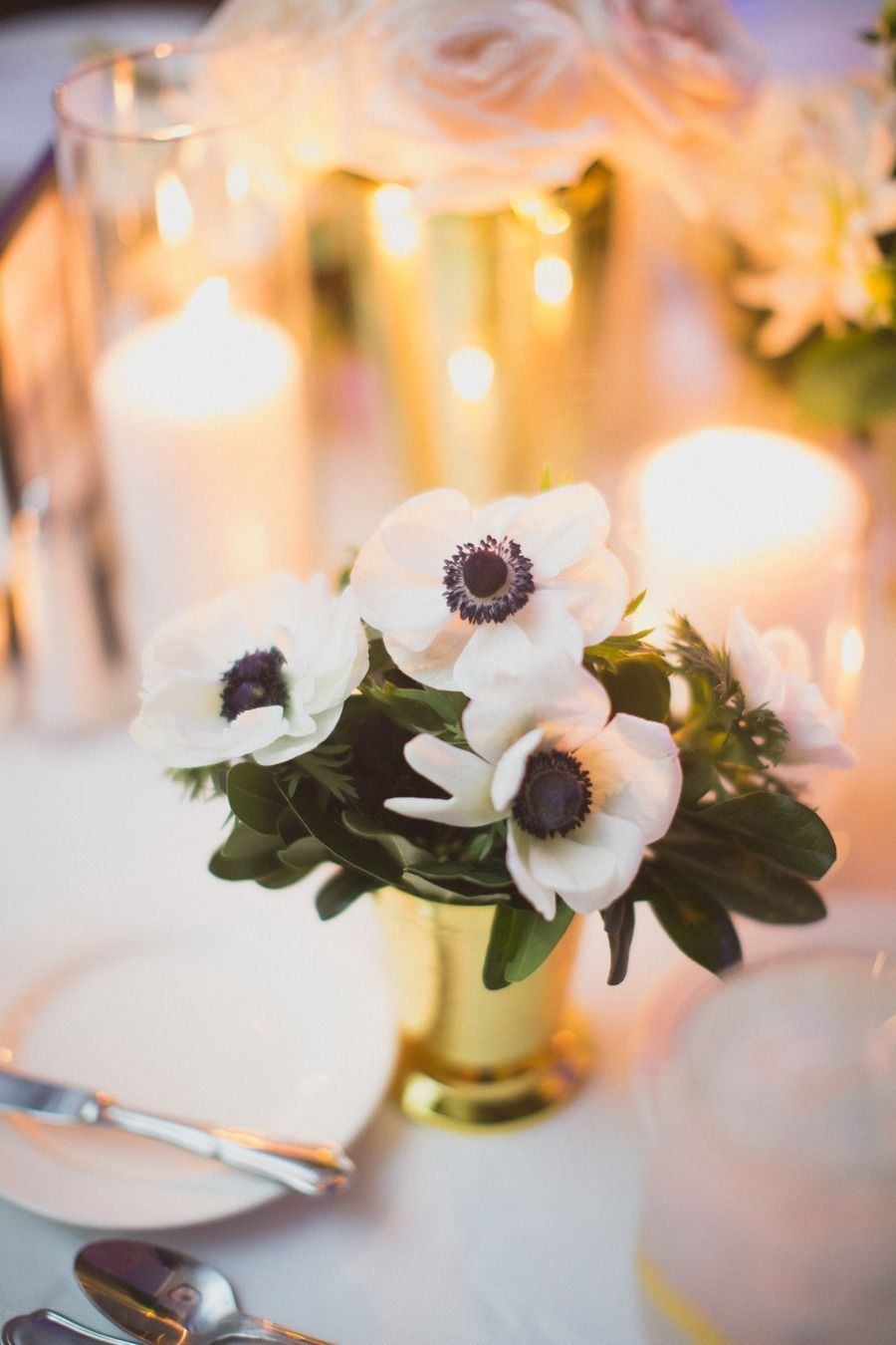 #gold, #centerpiece, #candle  Photography: Taylor Lord Photography - taylorlord.com Planning: Timeless Beginnings - timeless-beginnings.com Floral Design: DeVinnie's Paradise - devinnies.com  Read More: http://www.stylemepretty.com/2013/05/16/san-antonio-wedding-from-taylor-lord-photography/
