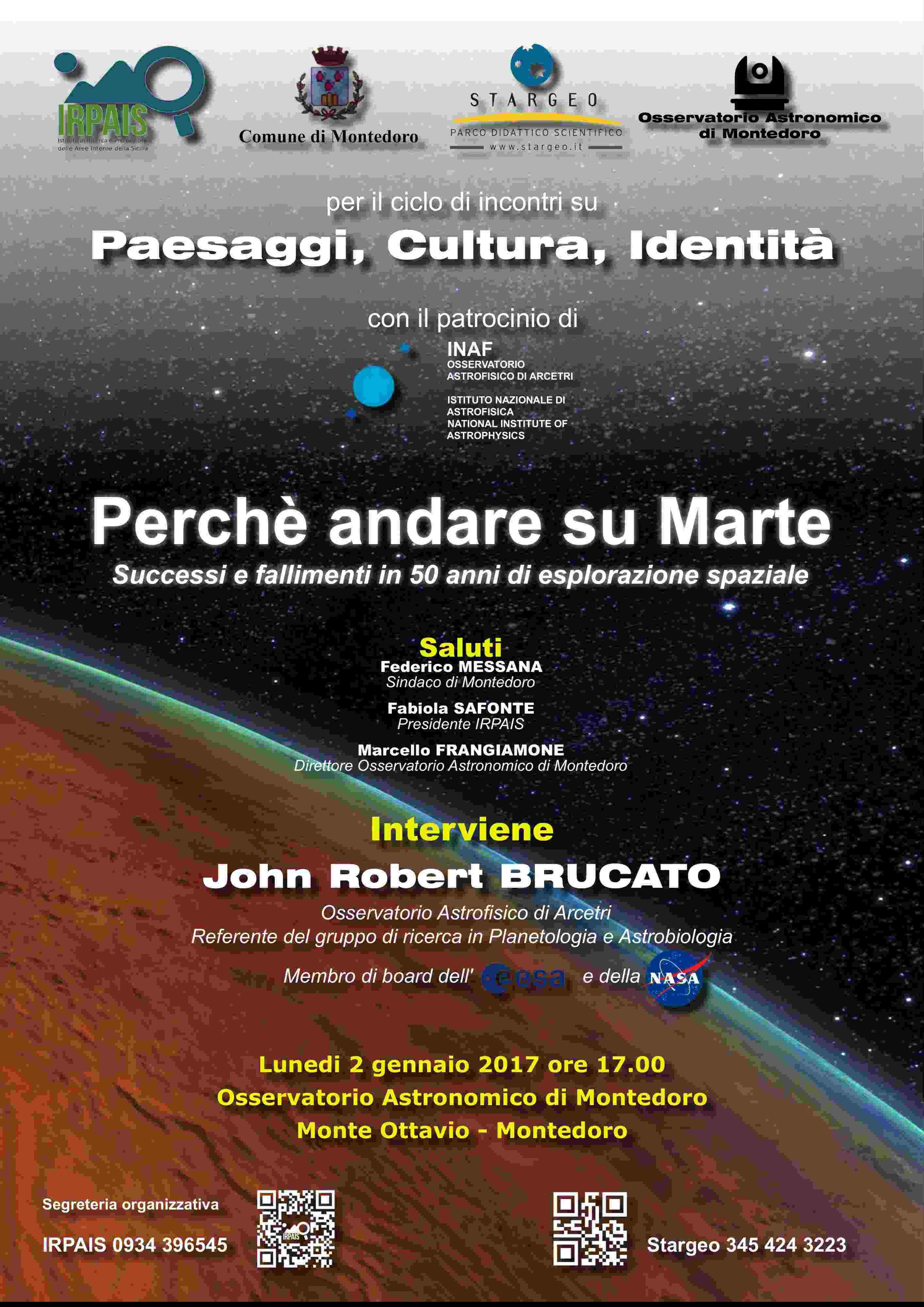 Astrobiologia e Aree Interne