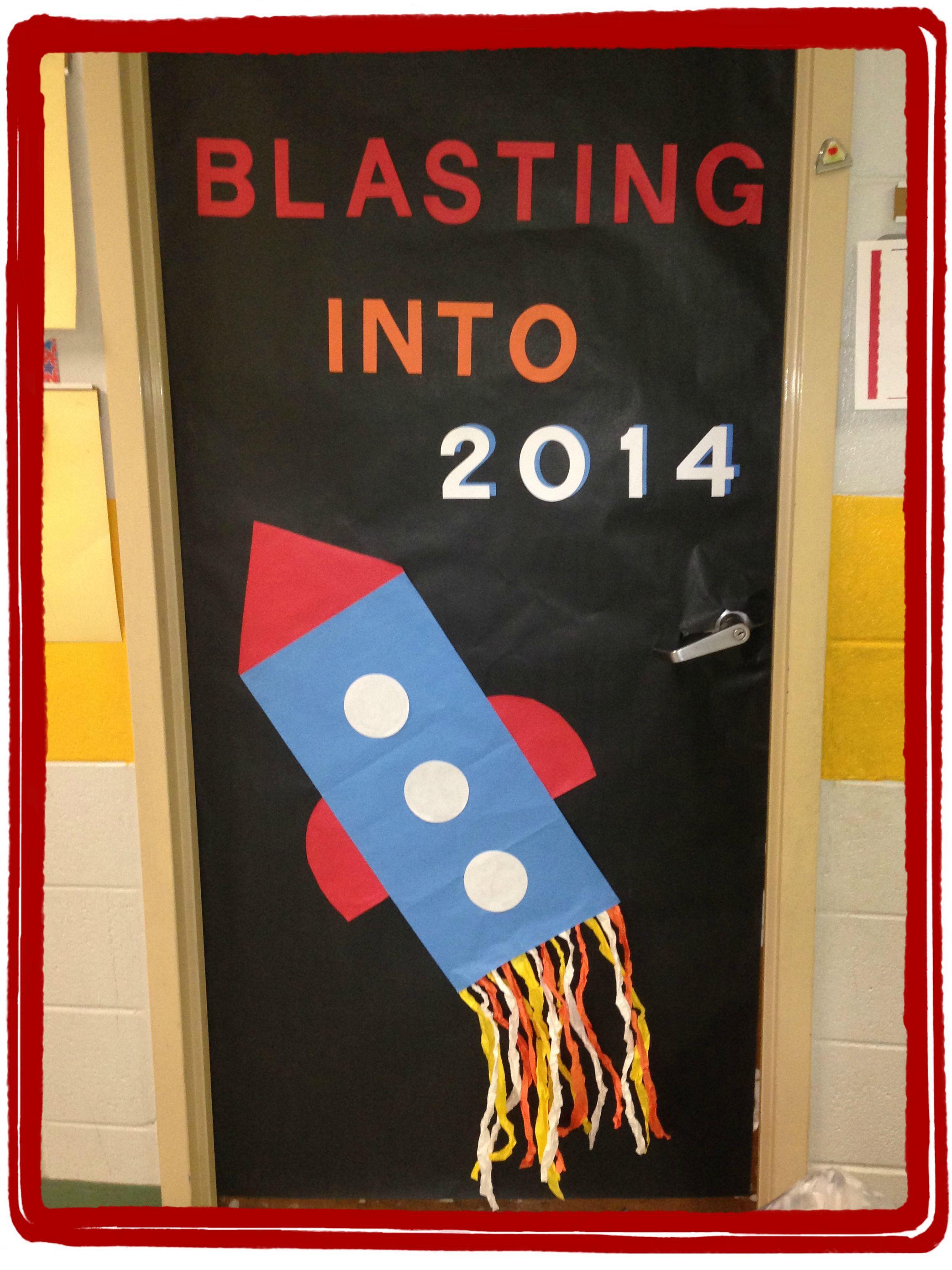 2014 Rocket Classroom Door - kids will add stars later ...