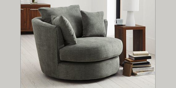 Buy Hampton Large Swivel Snuggle Seat 2 Seats Soft Marl Charcoal