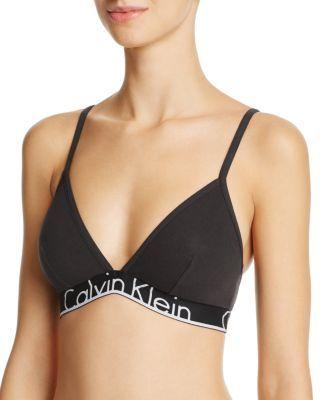 4d5df1a8969 CALVIN KLEIN Id Cotton Triangle Bralette.  calvinklein  cloth  bralette