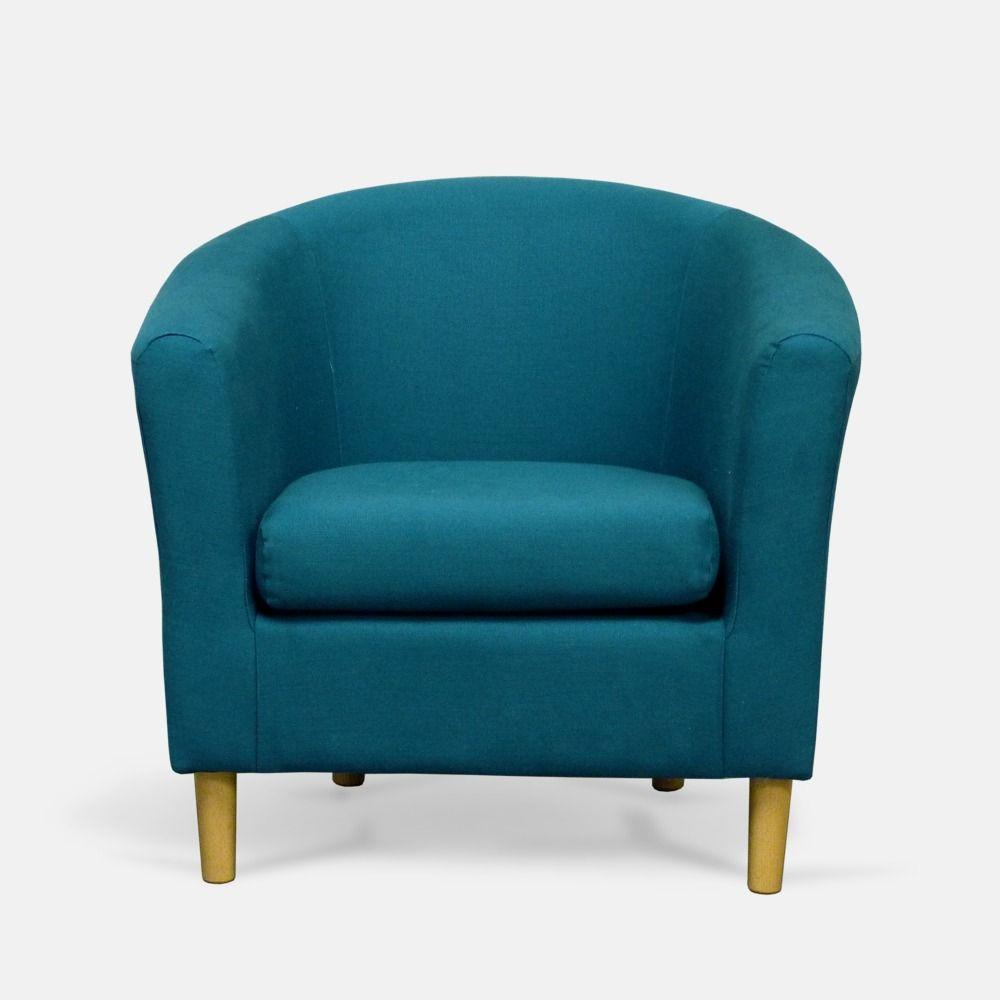 Teal Fabric Tub Chair | TubChairs.com | petrol woonkamer | Pinterest ...