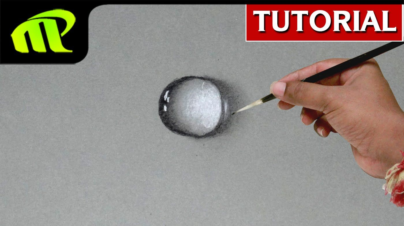 How to draw water drop 5 simple steps