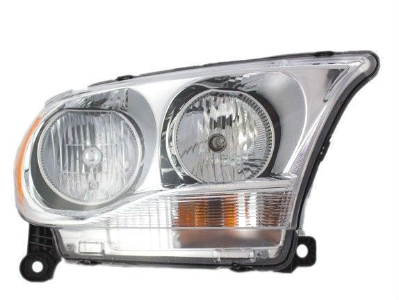 Halogen Headlamp Assembly W Chrome Bezel Right Passenger Rh 11 13 Dodge Durango Newaftermarket Dodge Durango Headlamp Dodge