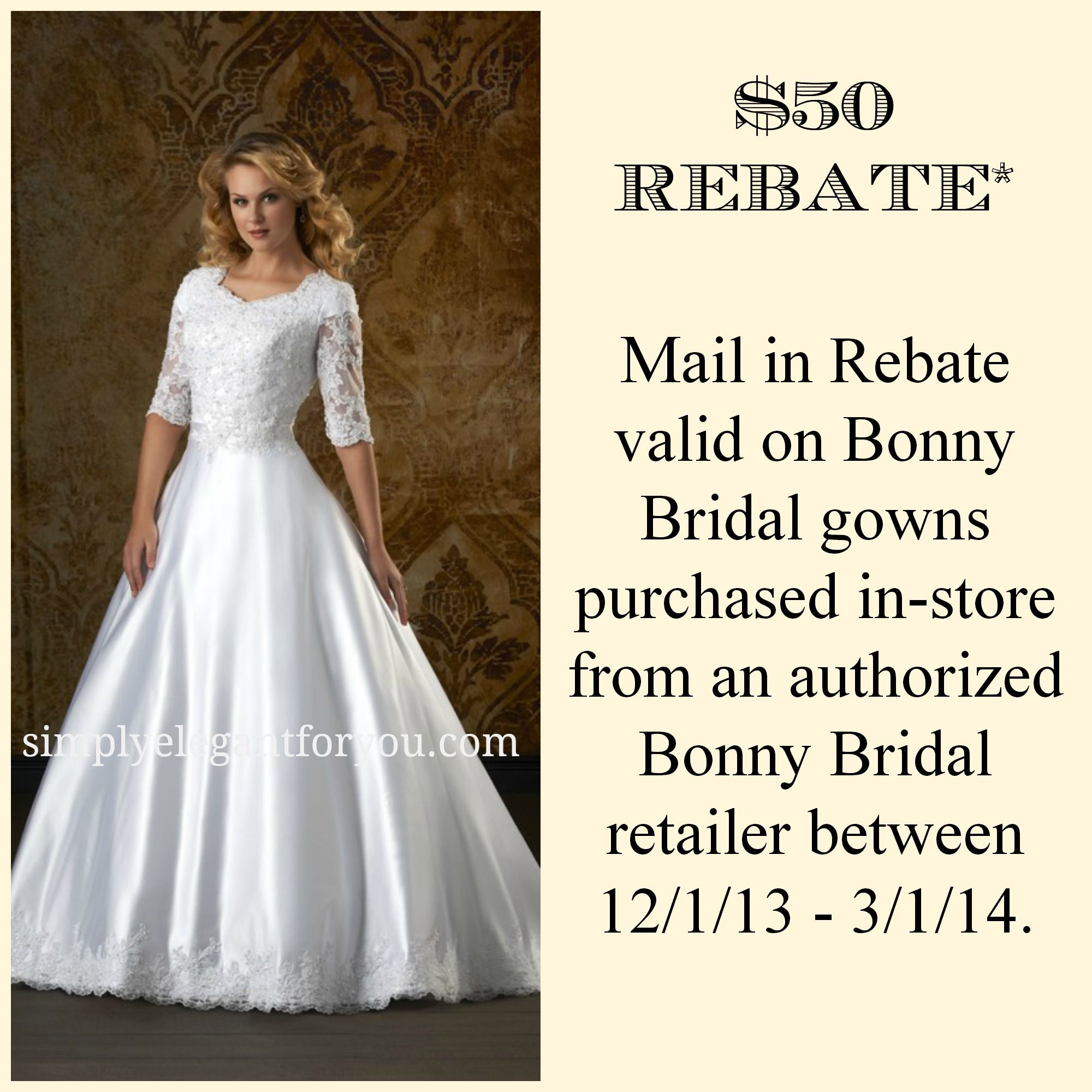 $50 Rebate | Modest Wedding Dress | #Sleeves | LDS | Apostolic ...
