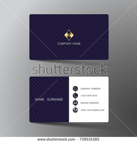 Stock vector modern business card template design with inspiration stock vector modern business card template design with reheart Images
