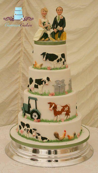 Farm Wedding Cake Cake by YummyConnieCakes