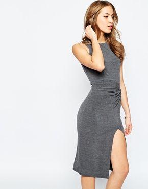 453bca6c19e1 ASOS Knot Sleeveless High Low Midi Dress | Things to Wear | Dresses ...