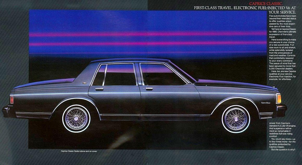 1985 chevrolet caprice classic 4 door sedan chevrolet caprice chevrolet impala 1985 chevrolet caprice classic 4 door