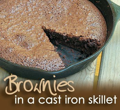 Brownies in a Cast Iron Skillet!