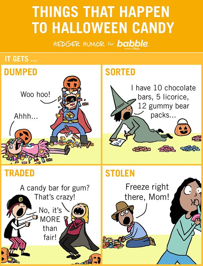 91 Hilarious Cartoons That Sum Up What It S Like To Be Married With Kids Cartoon Mom Halloween Cartoons Halloween Quotes Funny