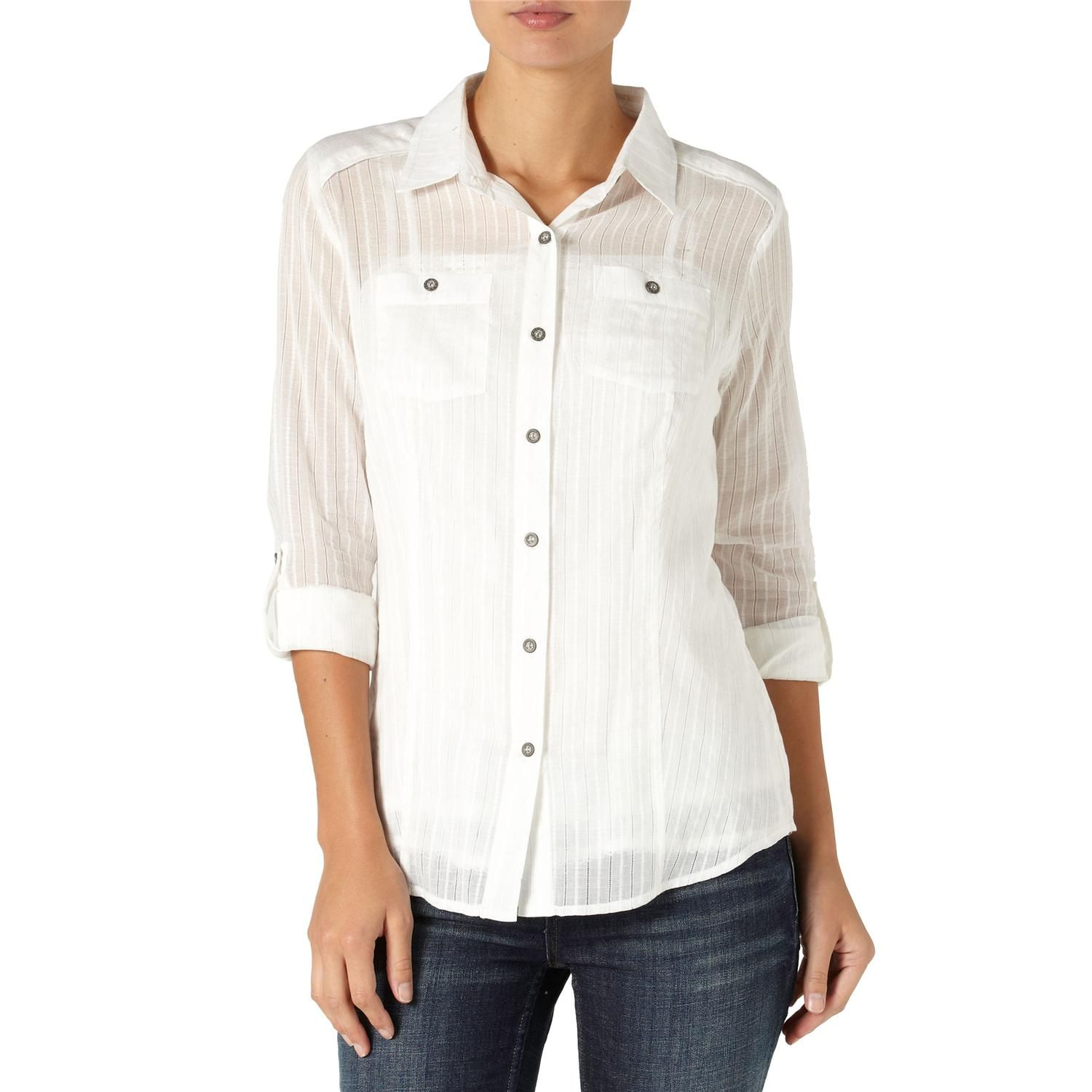 Quiksilver White Water Button Down Shirt - Women's | Shirts ...