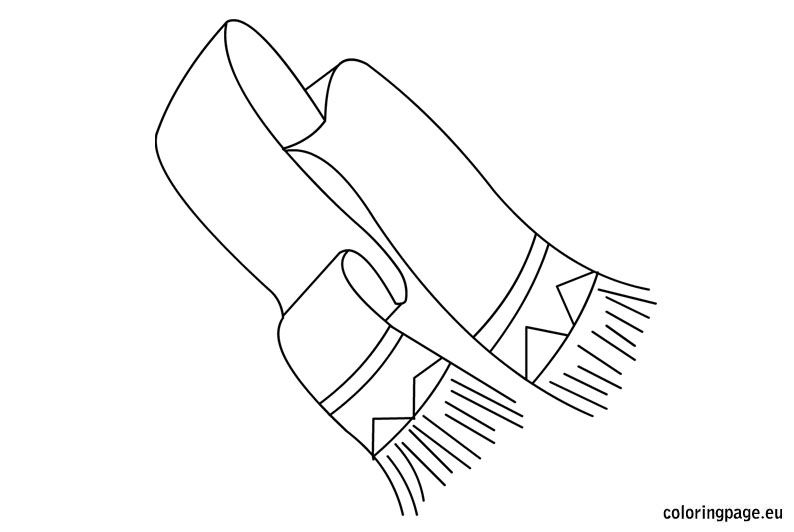 Scarf Coloring Page Coloring Pages Snowman Coloring Pages Color