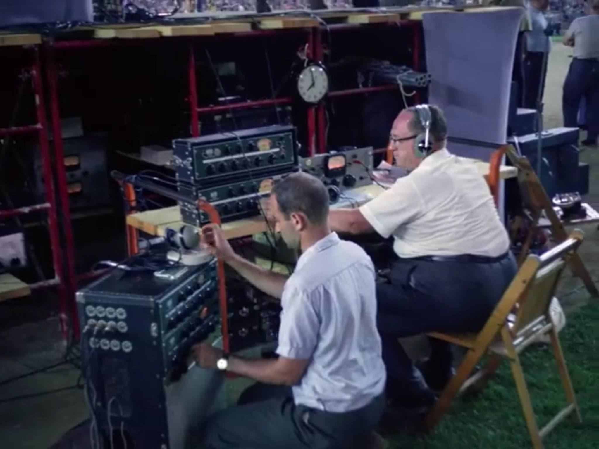 This Was The Live Sound Set Up For The Beatles Concert At Shea Stadium In 1965 The Beatles The Beatles Live Shea Stadium