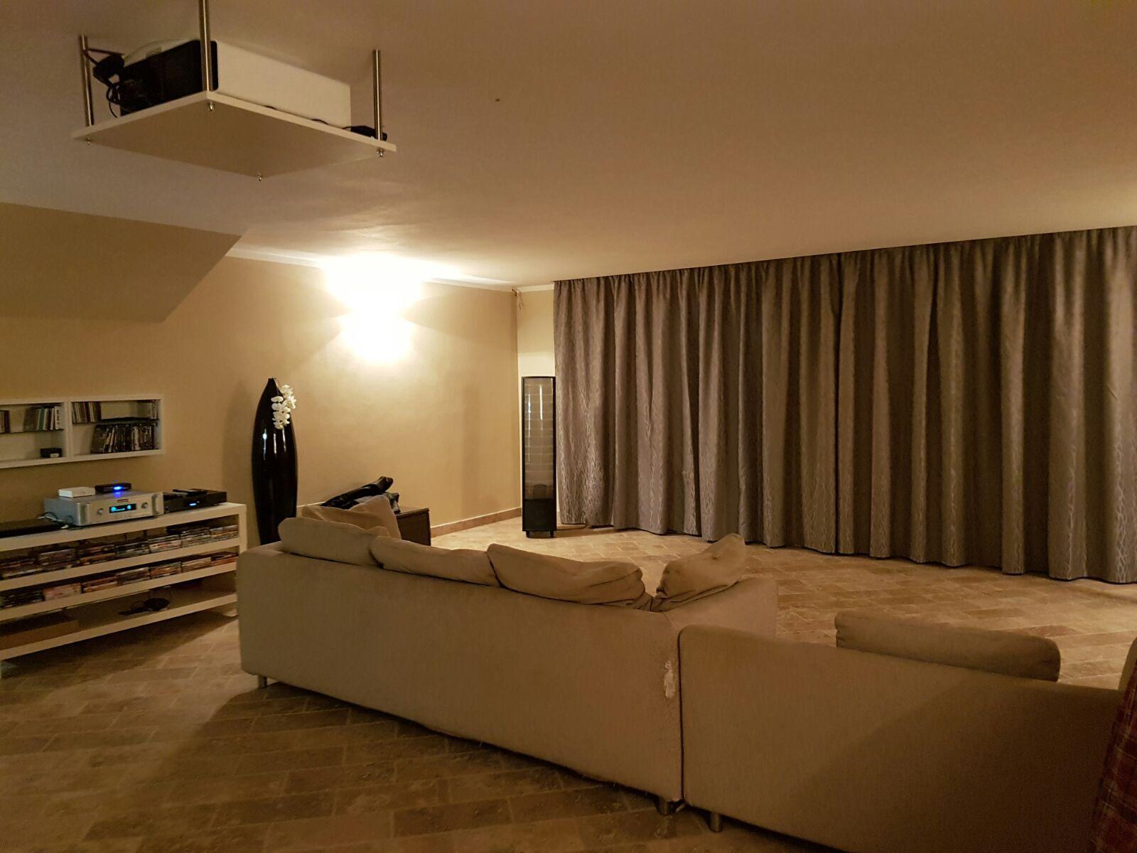 Binari Tende A Soffitto : Tende su binari con movimento a corde ed installazione a soffitto