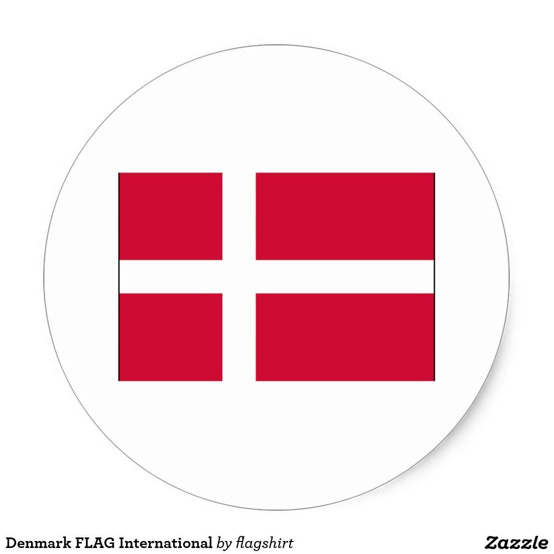 Denmark Flag International Classic Round Sticker Zazzle Com Denmark Flag Round Stickers Create Custom Stickers