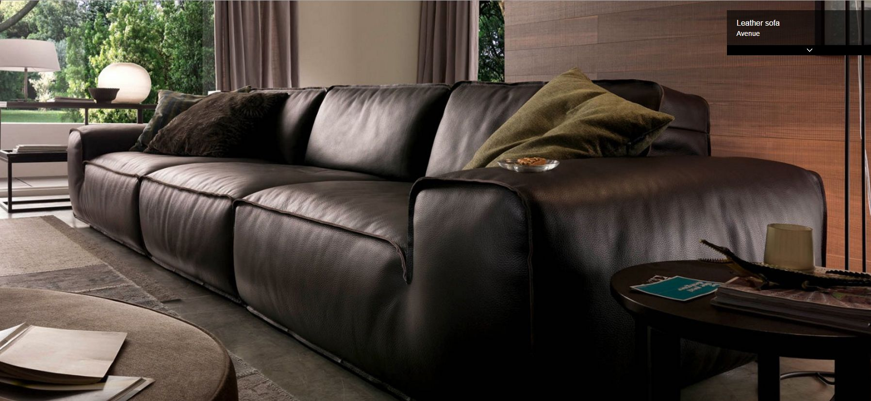 Chateau D Ax Divani In Pelle.Avenue Sectional By Chateau D Ax Italy Shown In Leather