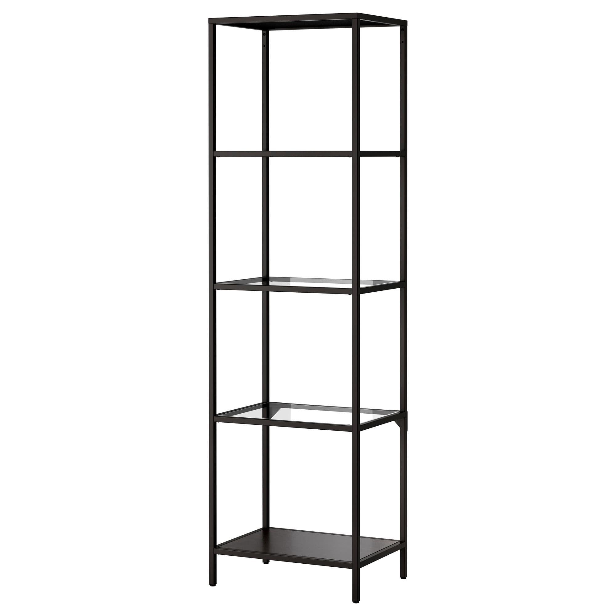 Ikea Vittsjo Shelf Unit Black Brown Glass