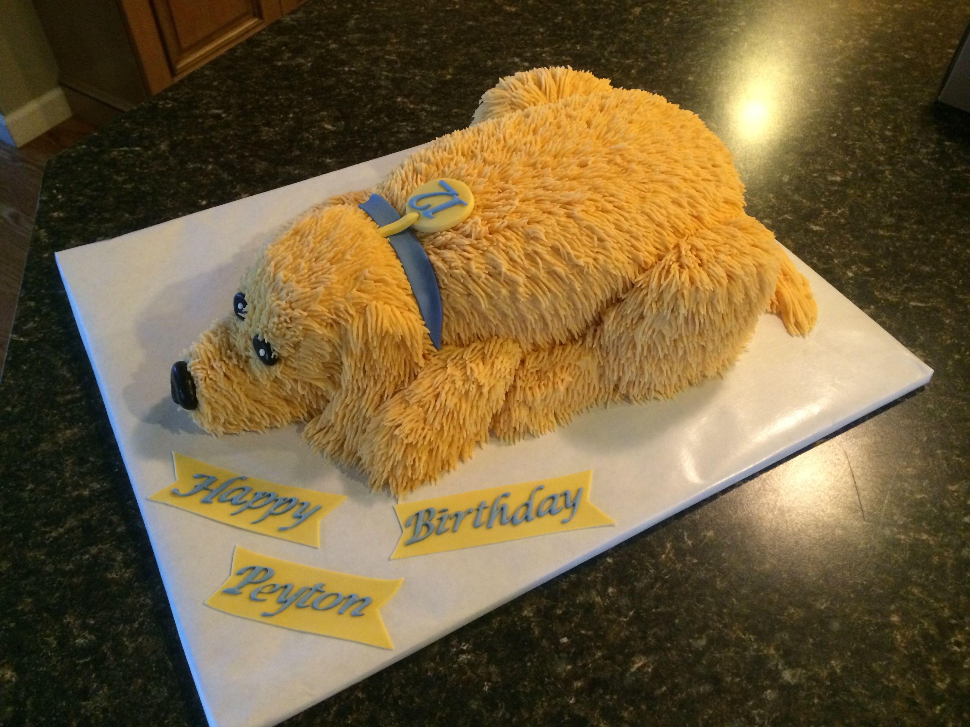 Magnificent Golden Retriever Cake Golden Retriever Birthday Cake Golden Funny Birthday Cards Online Alyptdamsfinfo
