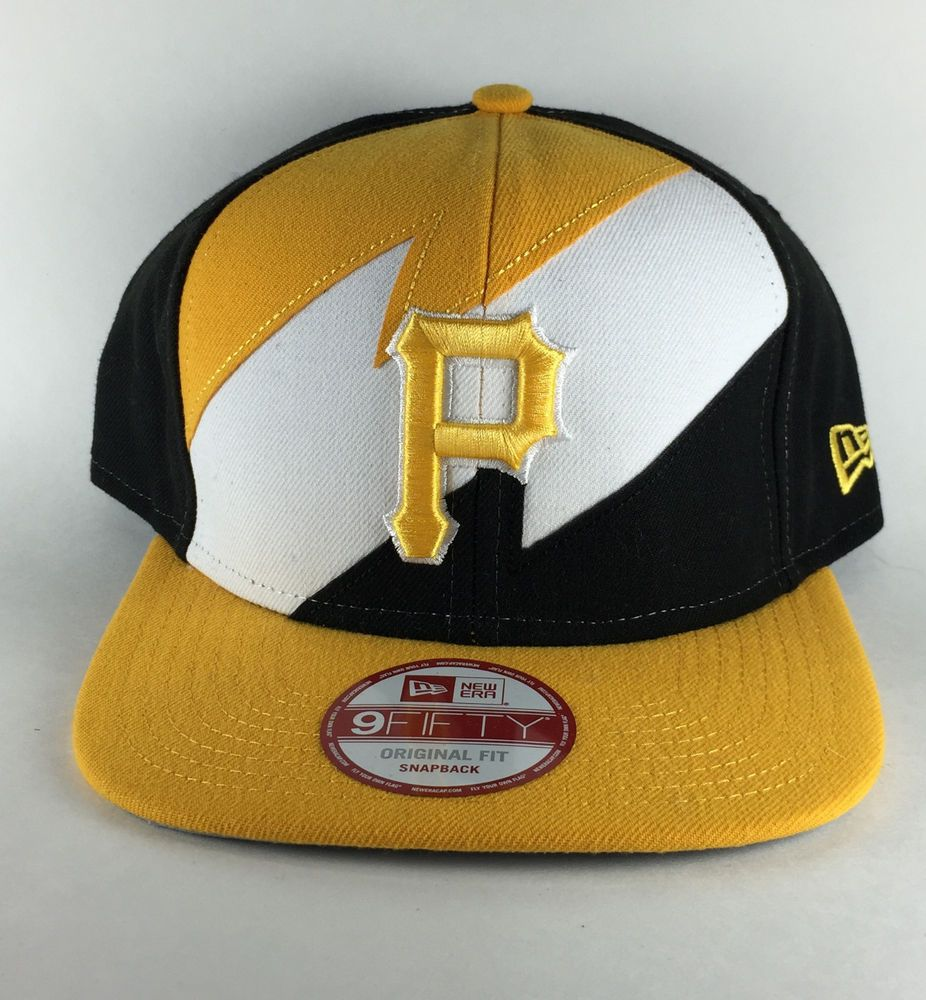 finest selection f53df 3844f NWT New Era 9Fifty Pittsburgh Pirates Snapback Hat Black Gold White Bolted   NewEra  PittsburghPirates  hat