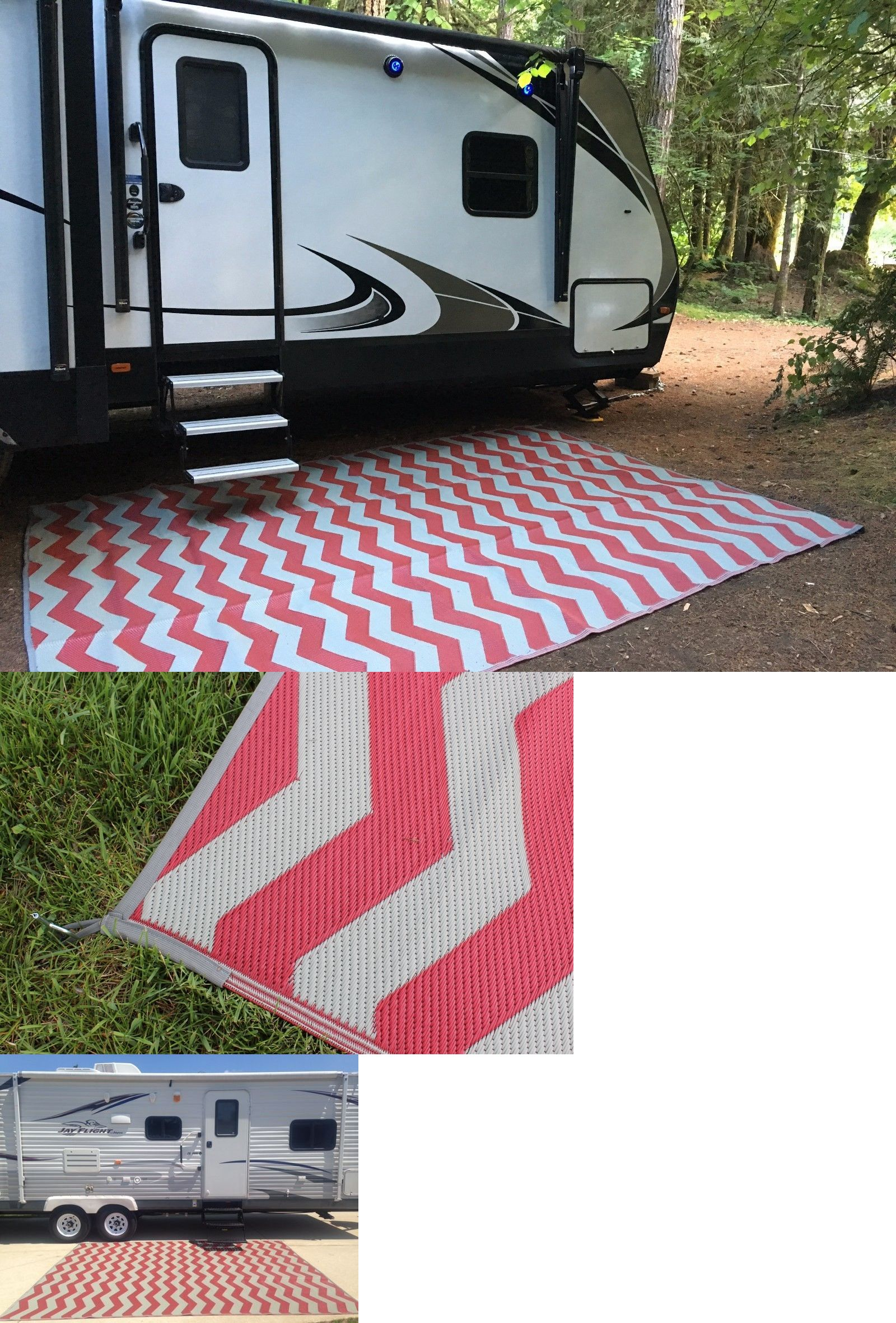 Other Rugs And Carpets 8409 Rv Patio Rug Outdoor Camping Mat Chevron Pattern 9x12 Buy It Now Only 55 Camping Rug Outdoor Rugs Cheap Outdoor Camping Rugs