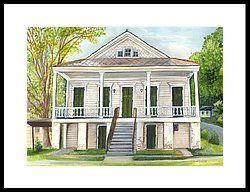 Louisiana Historic District Home by Elaine Hodges in 2019 ... on louisiana wetlands homes, louisiana inspired homes, louisiana small homes,