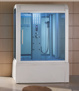 Mesa Yukon 501 White Steam Shower Steam Showers Luxury Homes Dream Houses Sliding Glass Door