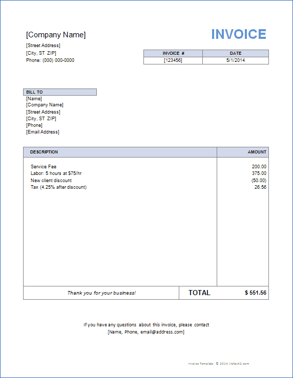 Professional Templates Invoice Grade Free Word For Ms33