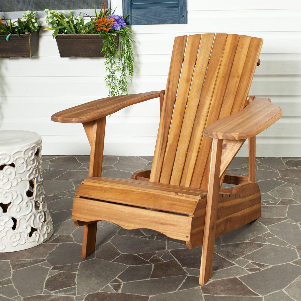 Safavieh Mopani All Weather Patio Lounge Chair In Natural 1 Piece