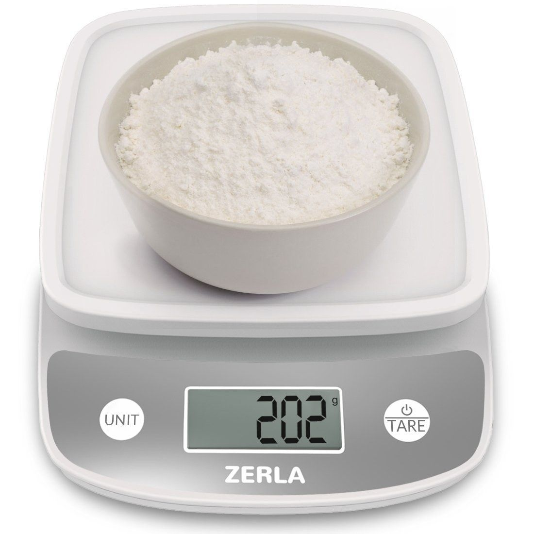 A digital kitchen scale to help you measure out portions