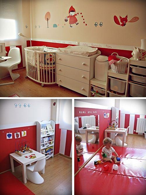 Una habitación infantil de diseño para Noa | Red rooms, Kids s and ...