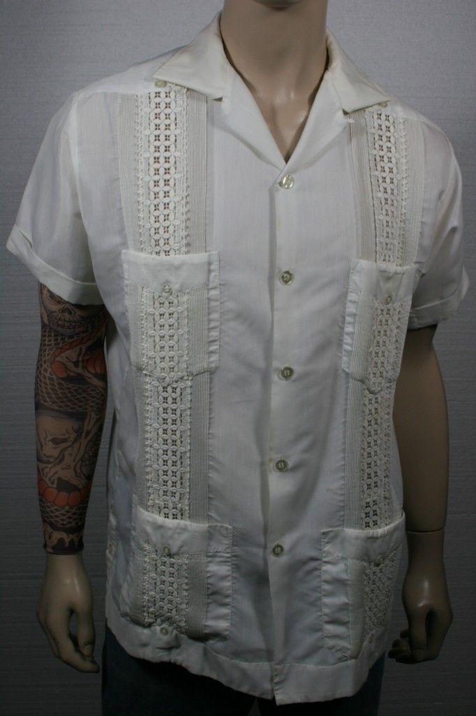 Mexican Wedding Shirt.50s Guayabera Style Crochet Mexican Wedding Shirt My Hope Chest