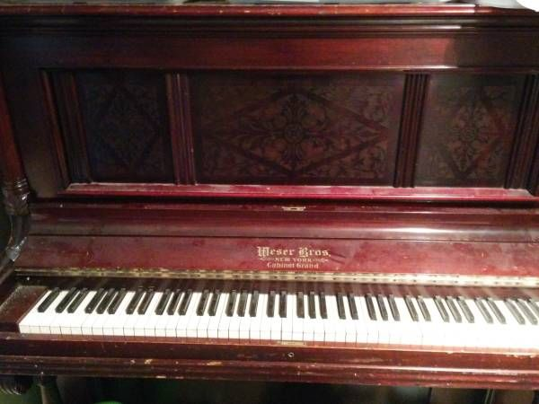 Free Weser Bros. Cabinet Grand Piano with HonkeyTonk pedal. | Free ...