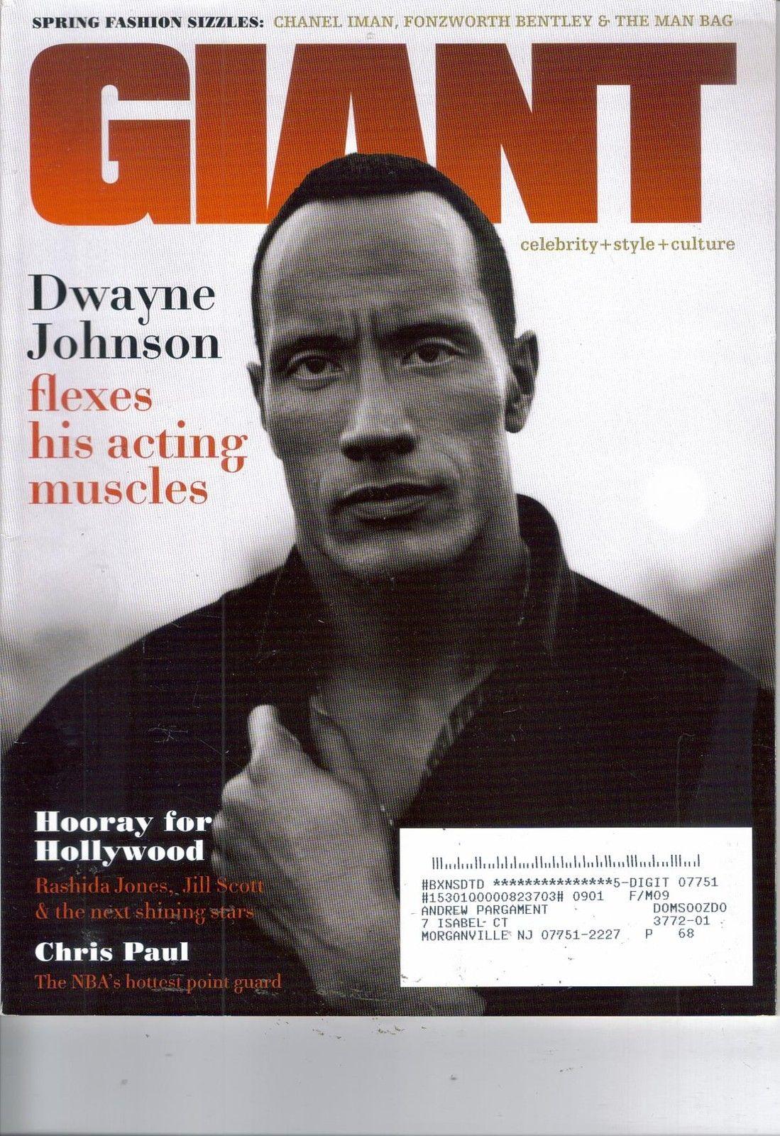 Giant Magazine Dwayne Johnson Cover March 2009 Rock