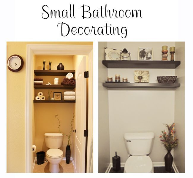 Small Bathroom #Decor Idea