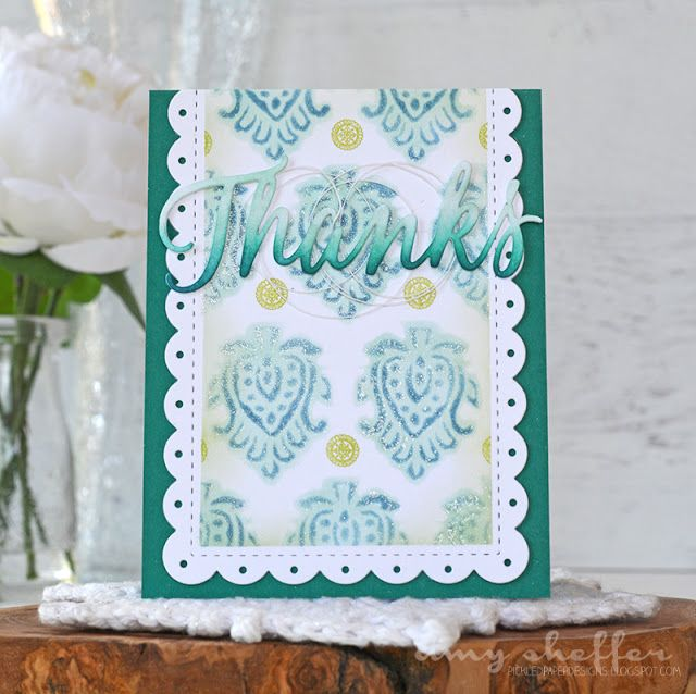 Thanks Card by Amy Sheffer for Papertrey Ink (June 2016)