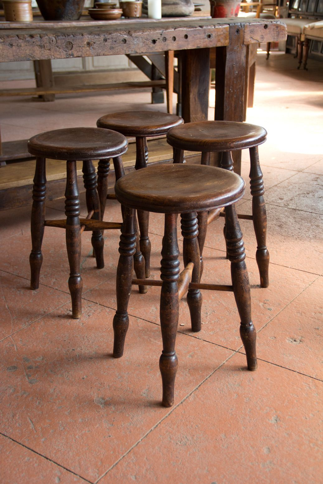 Set Of Four Antique English Pub Stools 1stdibs Com Pub Stools Pub Decor Pub Chairs