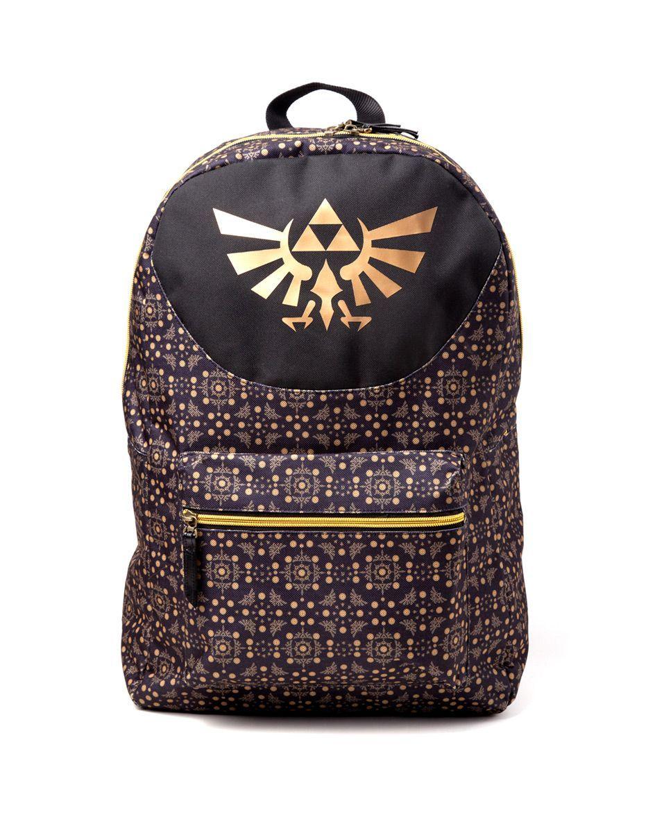 Zelda ryggsäck - Allover Printed Backpack  backpack  new  leather  beige   brown fedf6d91a7a73