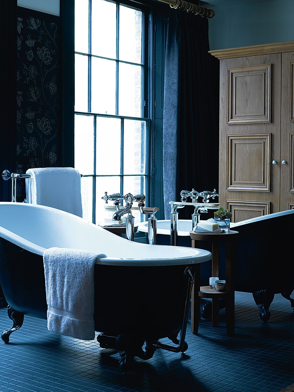 Twin cast iron Slipper baths at Hotel du Vin Bristol | Decor ideas ...