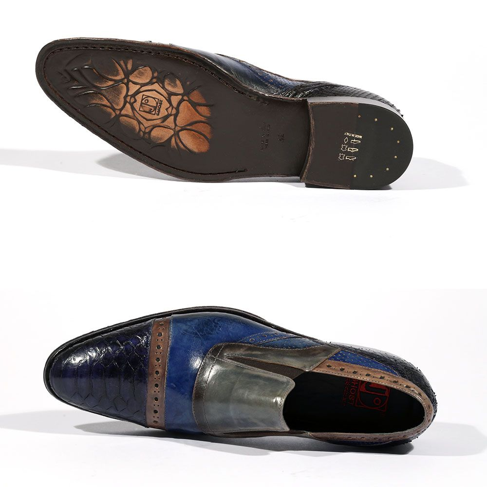 Jo Ghost Men Shoes Italian Python Print