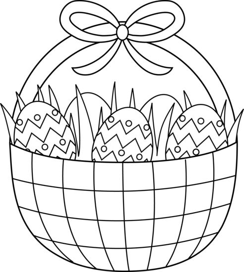 easter basket coloring pages - Coloring Pages Easter Baskets