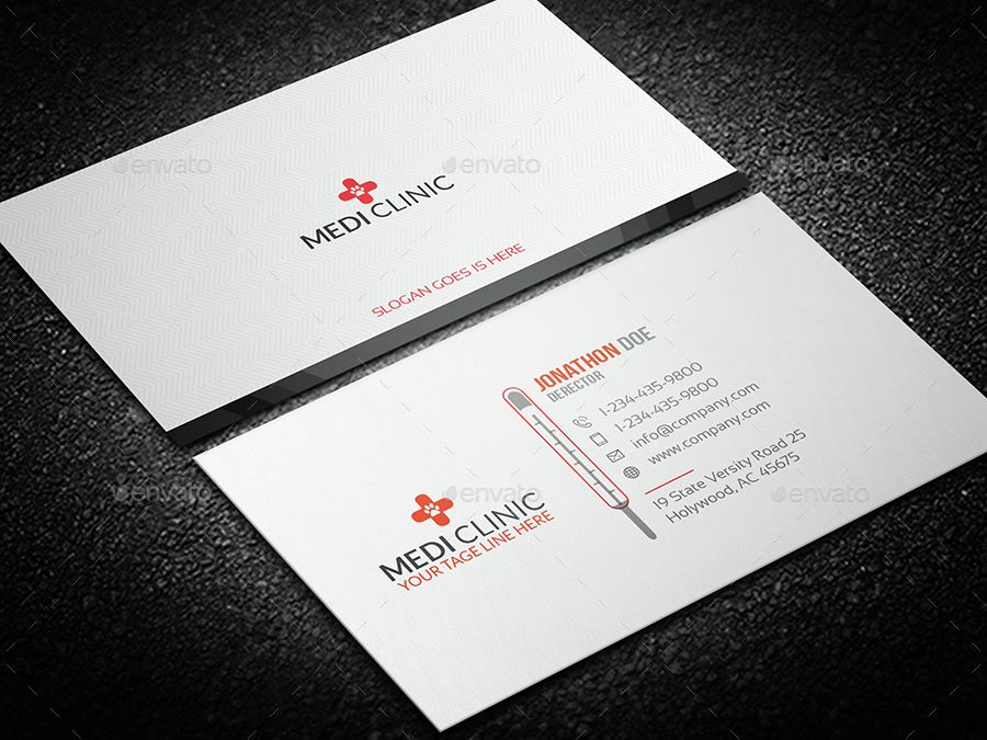Medical/Thermal Business card | Business cards, Business and Template
