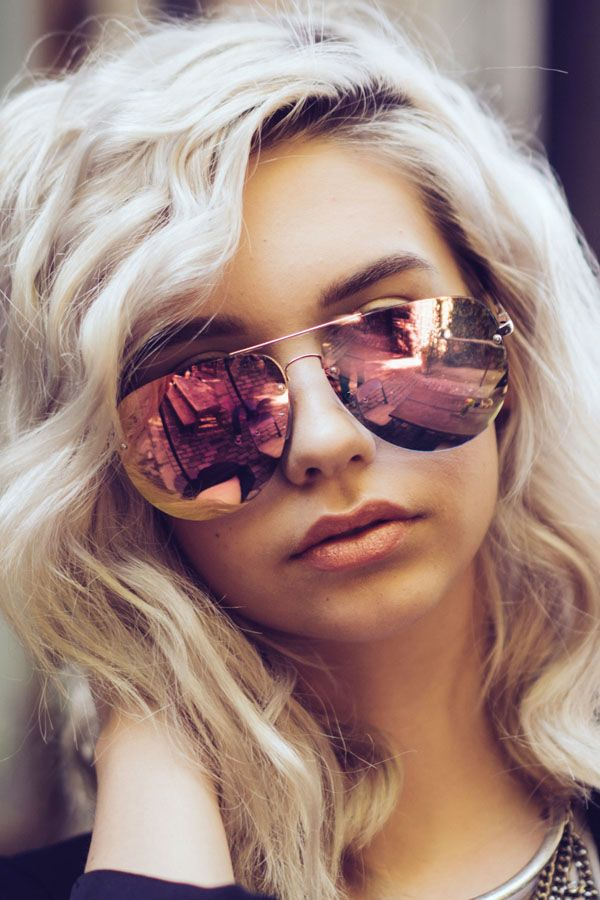 bb86d56ccc051 Quay x Amanda Steele Muse Sunglasses in Gold Pink