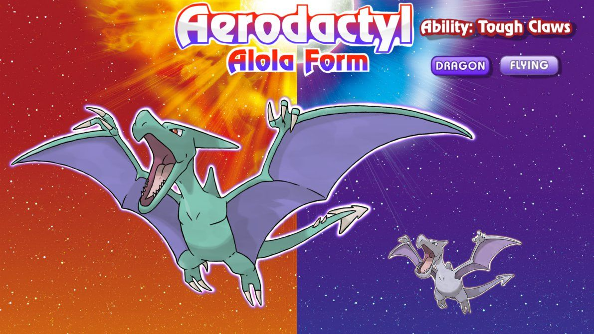 alolan form aerodactyl by connorgotchi pokemon nerdboard
