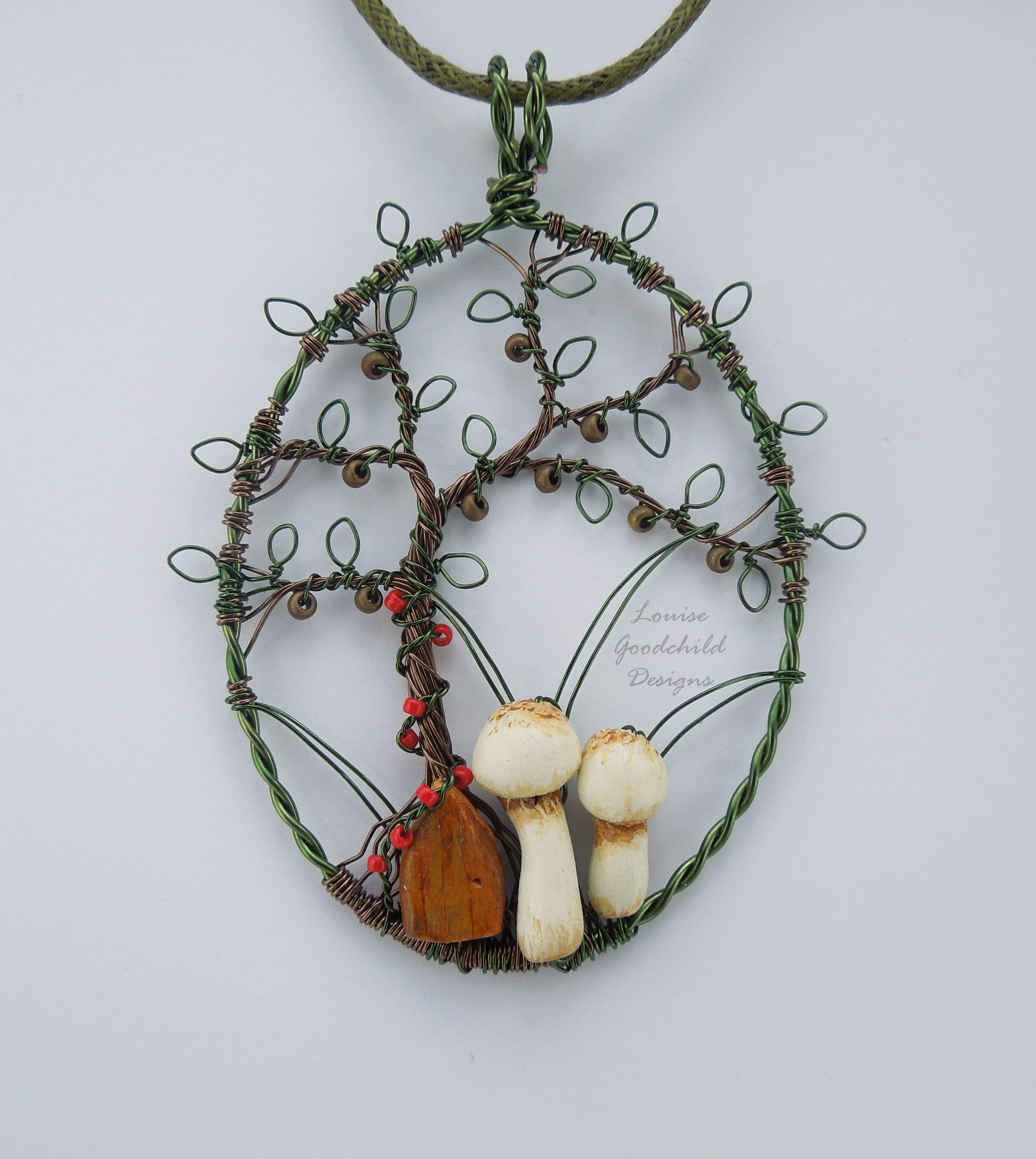 Nut Tree House wire pendant by Louise Goodchild Designs. | Wire ...