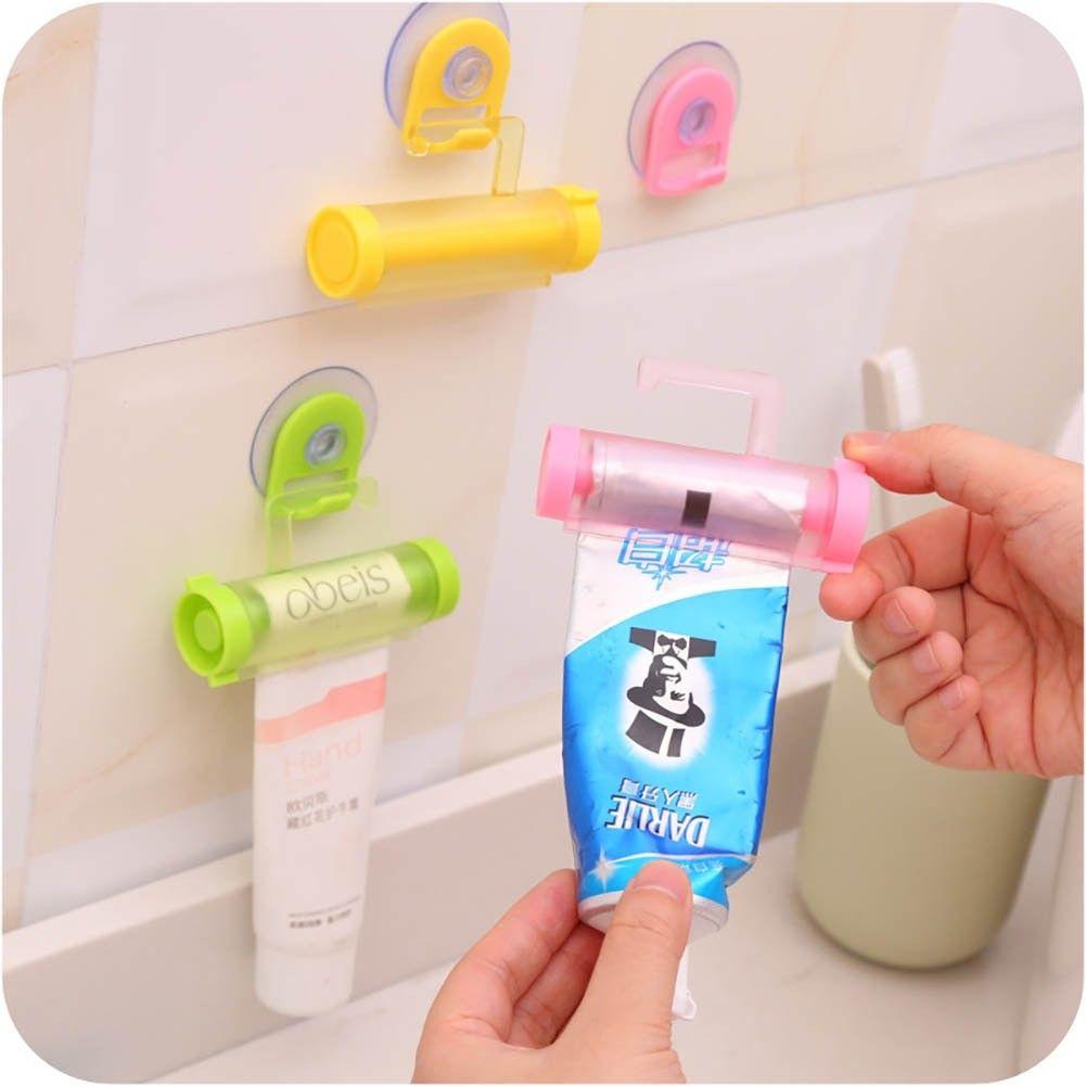 Sucker Toothpaste Useful Tube Easy Holder Rolling Plastic Dispenser