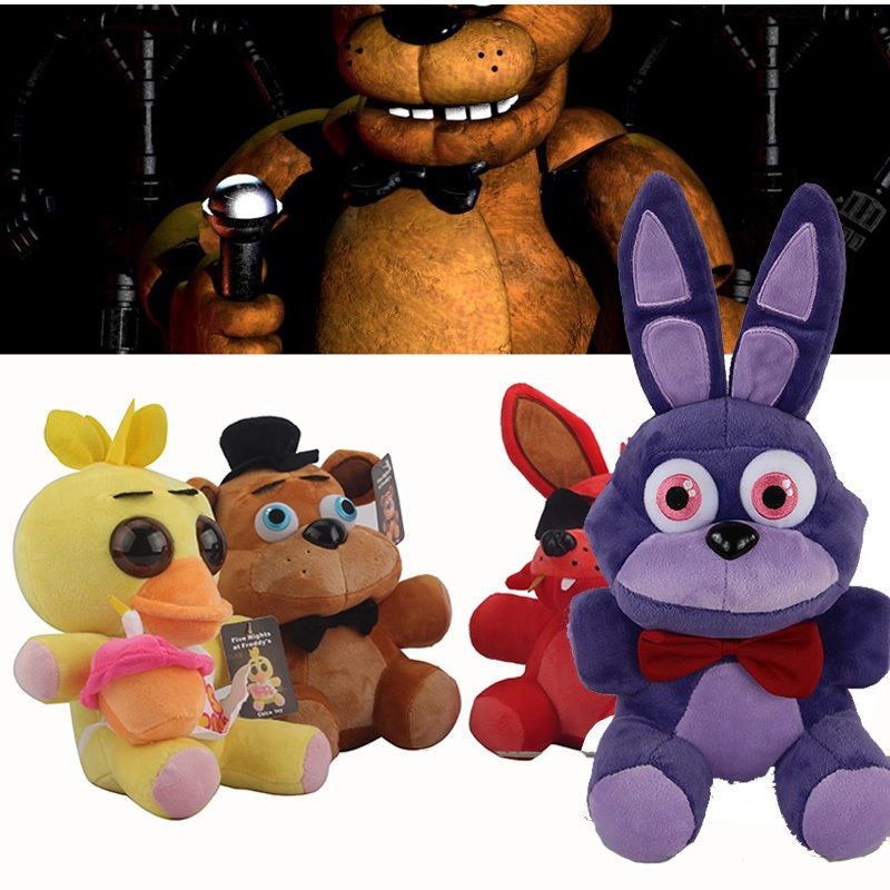 4pcs FNAF Five Nights at Freddy's FREDDY & FOXY & Bonnie &Chica Plush Toy doll #Unbranded