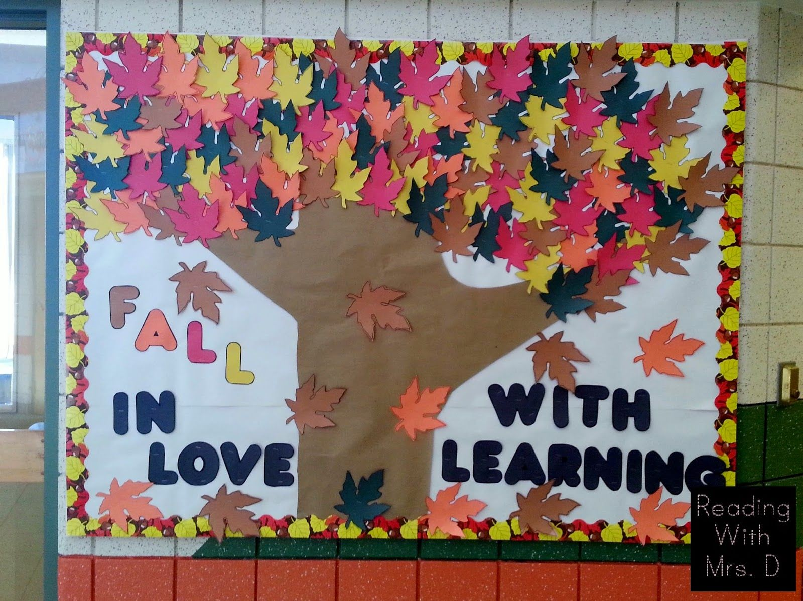 Fall Bulletin Board Fall bulletin boards, Bulletin